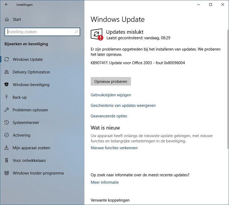 0x80096004 errorcode, Windows 10 Help