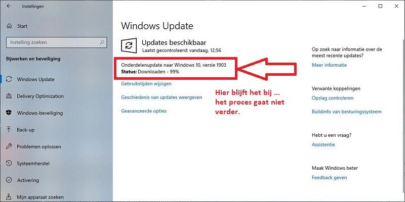 Windows Update opschonen, 0x80240034, Windows 10 Help